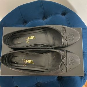 Black Chanel Ballet Flats